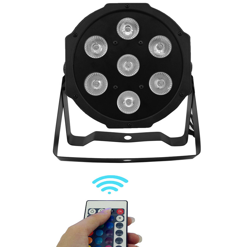 SHEHDS Wireless Remote Control  7x12W RGBW Lighting RGBW Color Mixing Uplighting KTV Disco DJ For PARTY Disco Light DMX Light
