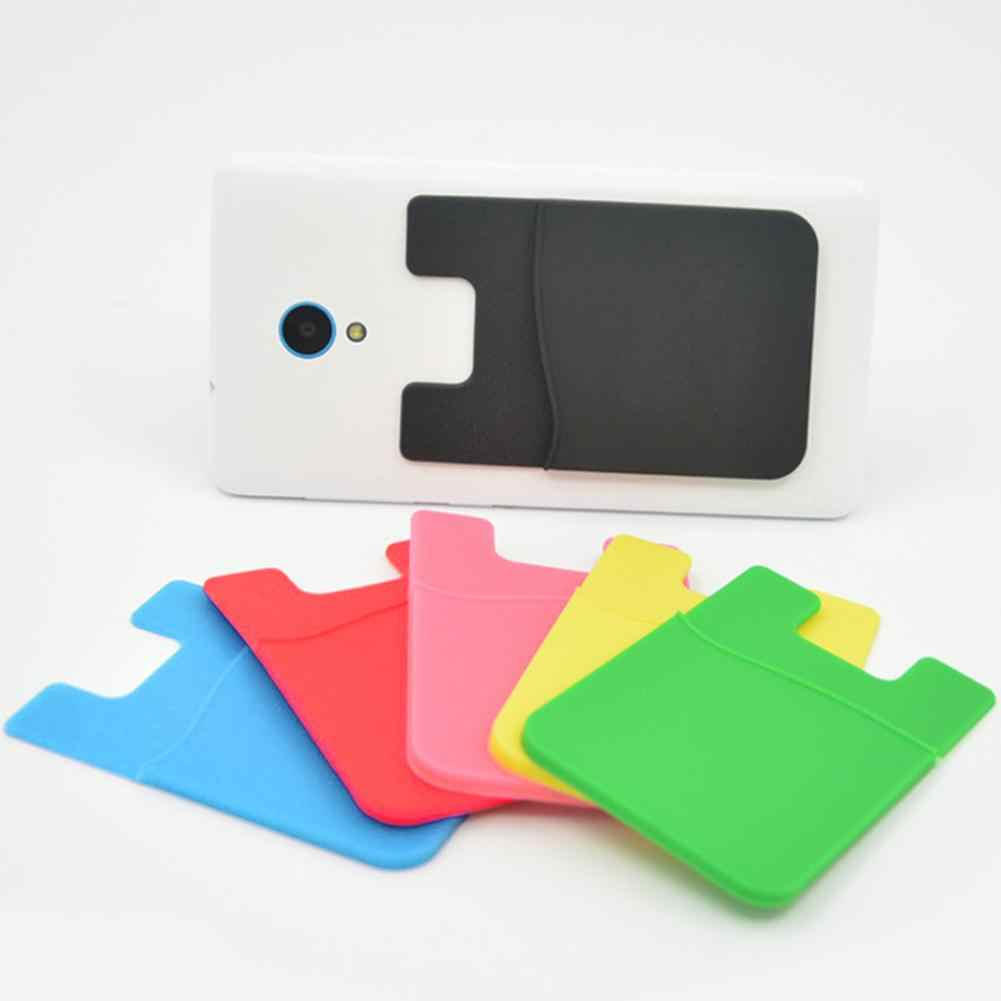 2018 Smart Silicone Mobile Phone Wallet Card Stick On Cash Credit Card Holder Pouch