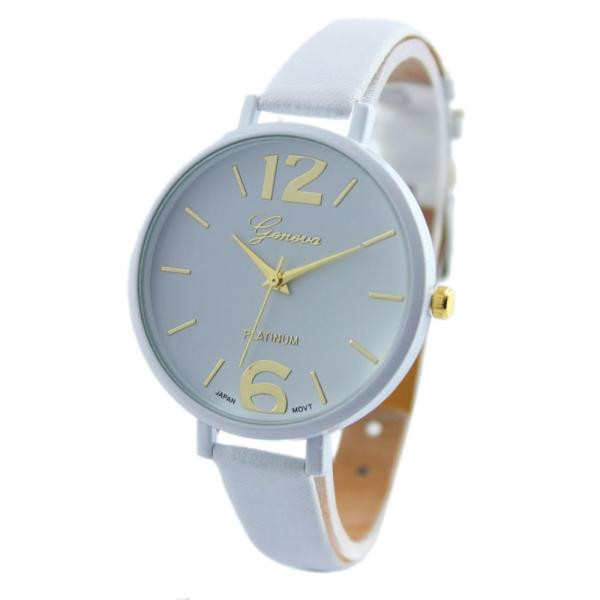 Geneva Women Faux Leather Analog Quartz Wrist Watch Reloj Mujer Creative Womens