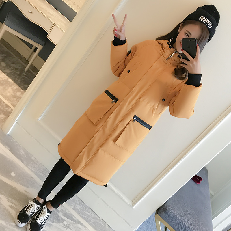 New 2017 Fashion Winter Parkas Thick Warm Hooded Coat Long Jacket Loose Big Pockets Cotton Padded Female Outwears S-2XL winter jacket women 2017 new fashion female long coat thick warm padded cotton jacket parkas casual hooded jacket plus size loo
