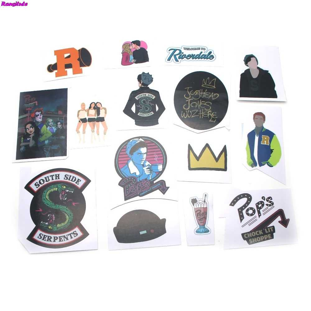R114 15pcs/setRIVERDALE Graffiti Sticker DIY Skateboard Laptop Luggage Mobile Phone Bike Bicycle Waterproof Sticker