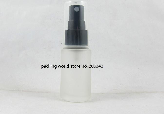20 мл матовое стекло бутылка с белым/черным/прозрачный спрей насос для тонера/воды/тумана опрыскиватель/духи/туалет косметическая упаковка - Цвет: black mist sprayer
