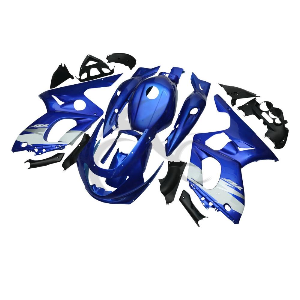 Синий ручной кузова АБС пластик обтекатель Комплект для YAMAHA YZF600 YZF600R 97-07