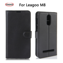 """YINGHUI For Leagoo M8 / M8 Pro Leather Case For Leagoo M8 cover Protective Flip PU Leather Case For 5.7"""" Smart Moible Phone Capa"""