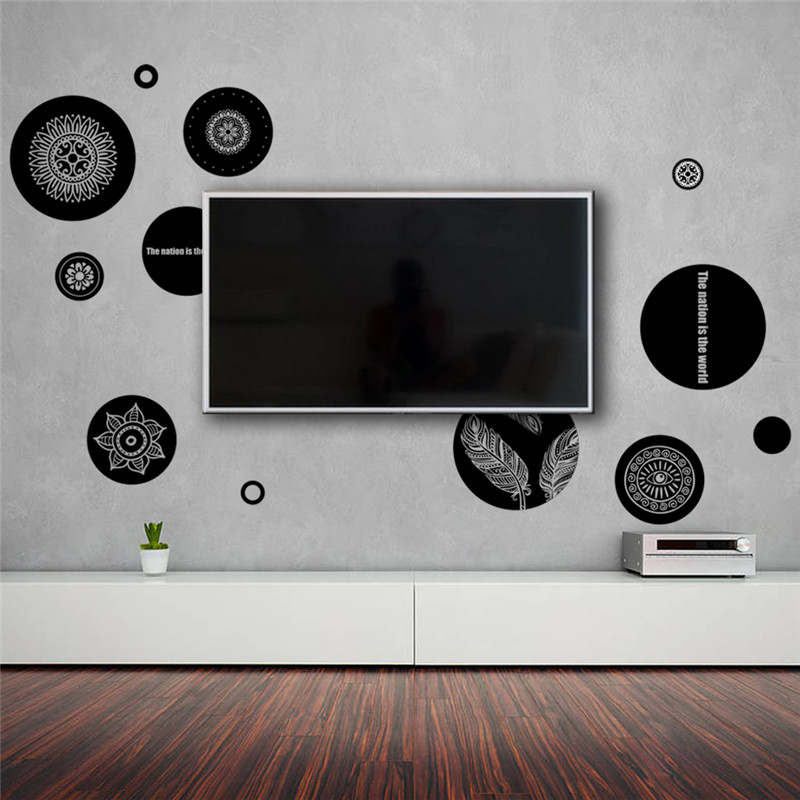 % office Geometric patterns wall stickers TV living room bedroom decoration nursery room decor poster wall decals poster mural