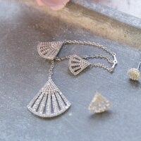 Hot new fashionable Silver Earrings Fashion Asymmetry Zircon Earrings Tassel rhinestone Long ear wire earrings