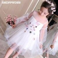 Flower Girls Dress For Wedding and Party Dress Kids Pink Bridesmaid Princess Dress Children Dress Teenage Girl Clothing 12 Year