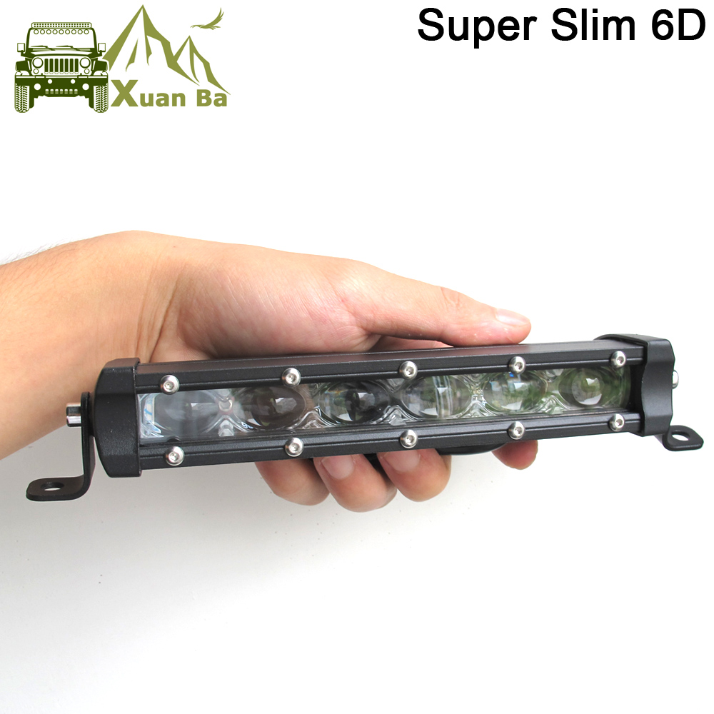 Super Slim 6D Lens 150W 120W 90W 20 Inch Led Bar Offroad Light For Auto 12V 24V ATV 4x4 Off road Car Work Lights Driving Lamps-in Light Bar/Work Light from Automobiles & Motorcycles