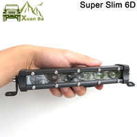 Super mince 6D lentille 150W 120W 90W 20 pouces barre de LED tout-terrain lumière pour Auto 12V 24V ATV 4x4 hors route voiture travail lumières lampes de conduite