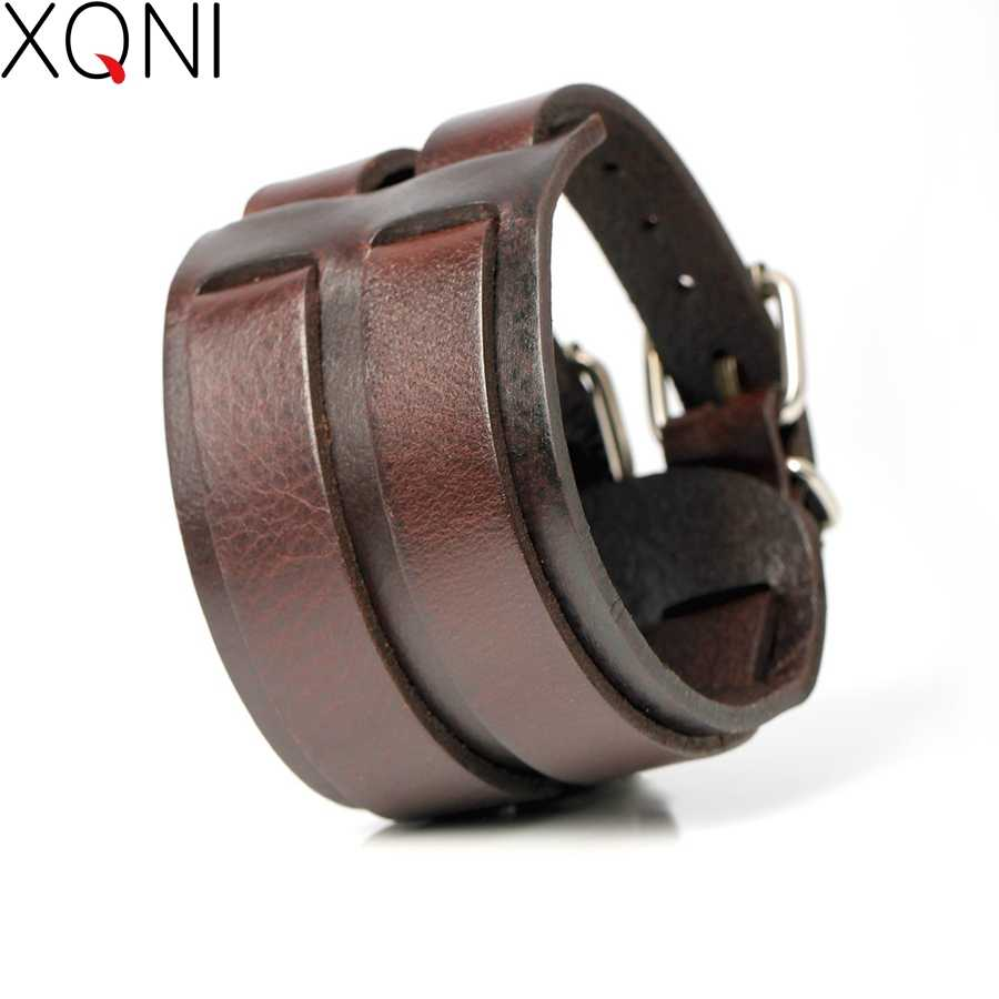 2017 New Fashion Cowboy Style Bandage Genuine Leather Bracelets For Men High Quality Knight Courage Wrap Charm Bracelets.