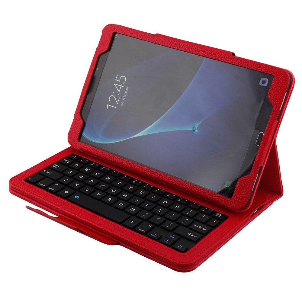Amovible Clavier Bluetooth avec Étui Pour Samsung Galaxy Tab Un 10.1 T580 tablet étui de protection avec fil leskeyboard A30