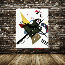 1 Pieces Handpainte Abstract Wall Art Pictures For Living Room Wassily Kandinsky Small worlds Home Decor Canvas Oil Painting