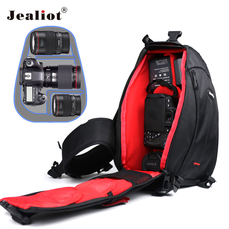 Jealiot Triangle SLR camera bag case tripod Shoulder Bag lens Waterproof Travel DSLR Video Photo Digital