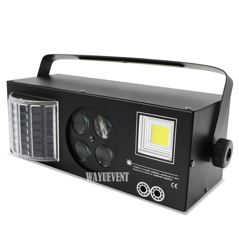 4 in 1 LED wirkung Laser flash Gobo Strobe schmetterling derby licht DMX512 Disco Club Party Bar Licht Auto Sound bühne licht wirkung