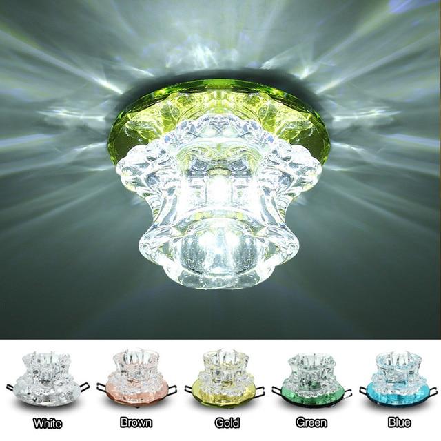 Wit Verlichting Kristal Oppervlak Inbouw LED Plafondlamp Kleurrijke ...