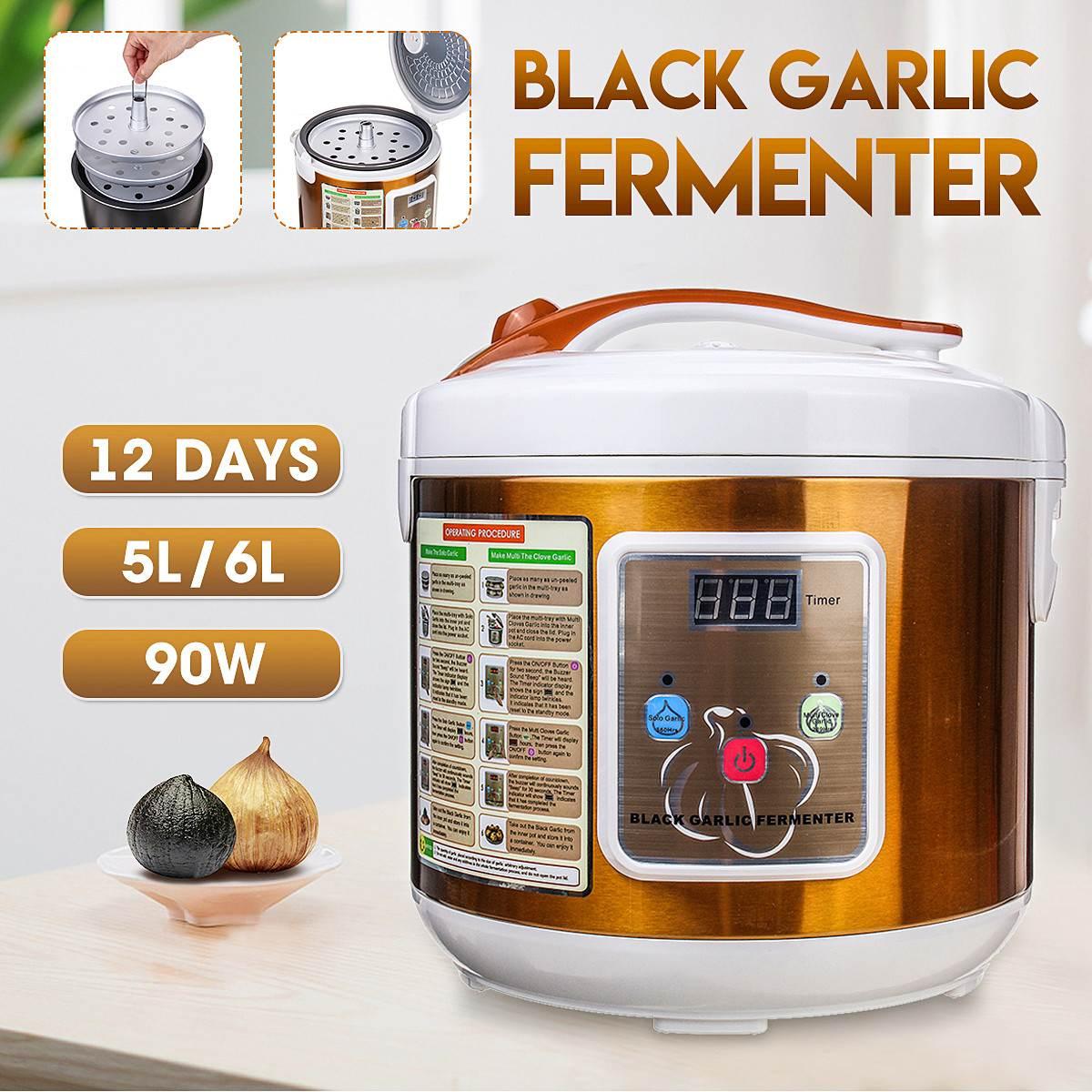 5L/6L Automatic Black Garlic Fermenter Home DIY Timer Digital Zymolysis Pot Maker 110V 220V Black Garlic Fermenting Machine Tool