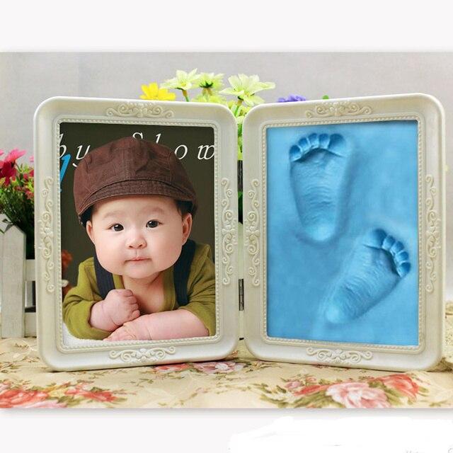 Cute Photo Frame Soft Clay Imprint DIY Baby Footprint Hand Print ...