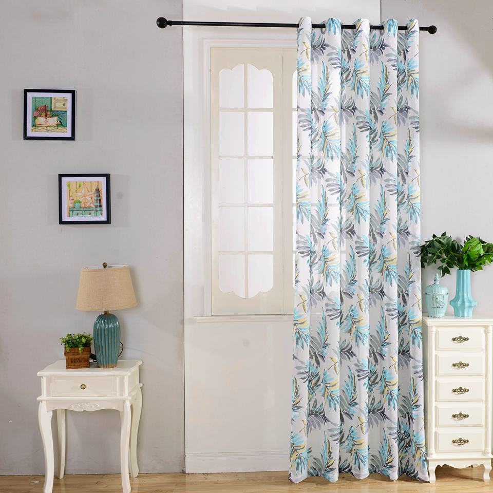European style Window curtain semi blackout curtains for living room ...