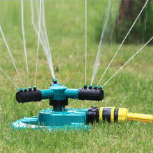 Lawn Garden Irrigation Sprinkler Adjustable Trigeminal Nozzle 360 Degree Rotating Sprinkler for Watering Lawn Plants Flowers