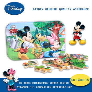 Disney Cartoon Animation Puzzles 2020 New Gifts 60 Piece Jigsaw Puzzles Tin Mickey Children Baby Toy Puzzles паззл vintage puzzles