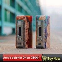 Arctic Дельфин Orion 250 Вт поле mod Двойной 18650 Батарея TC vape мод электронной сигареты моды 510 резьбы E сигареты электронные сигареты моды