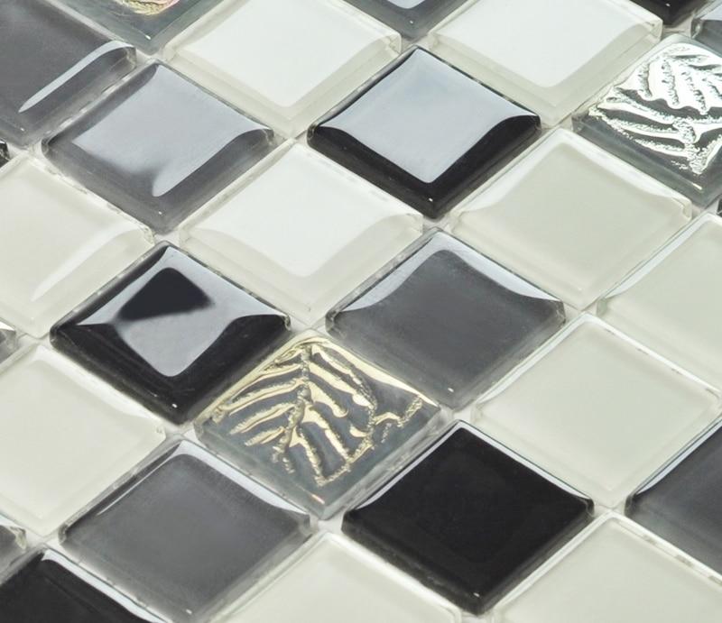 black <font><b>and</b></font> <font><b>white</b></font> symphony crystal glass <font><b>mosaic</b></font> <font><b>tiles</b></font> EHGM1012 for kitchen backsplash bathroom shower dining room wall <font><b>mosaic</b></font>
