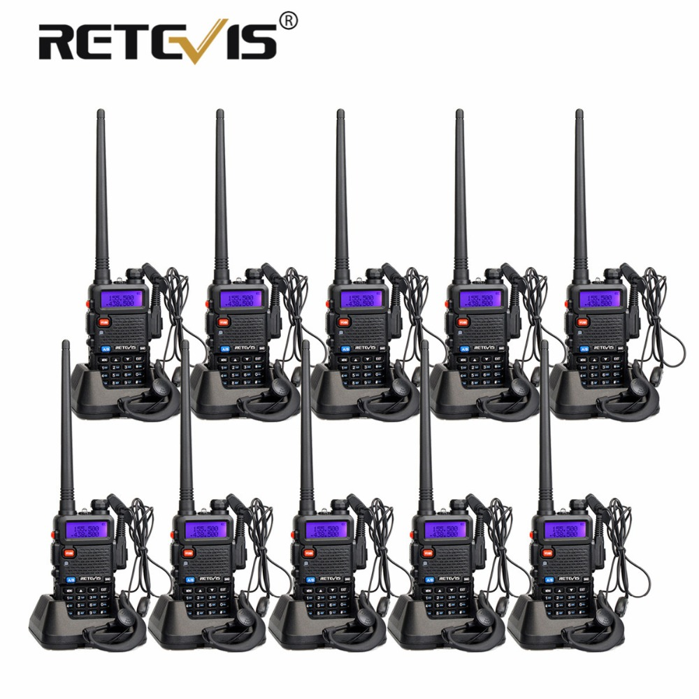 Шт. 10 шт. дешевые Retevis RT5R рация VHF UHF двухдиапазонный VOX FM частота портативный cb радио станция КВ трансивер рация