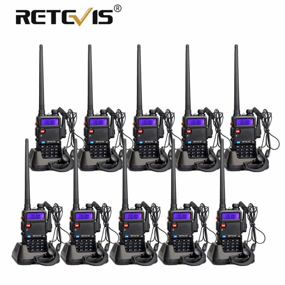 10 pcs Pas Cher Retevis RT5R Talkie-walkie VHF UHF Double Bande VOX FM Fréquence Portable cb Radio Émetteur-Récepteur Hf talkie-walkie