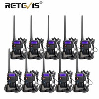 10pcs RETEVIS RT5R Walkie Talkie VHF UHF Dual Band Ham Amateur Radio VOX FM Portable Two Way Radio Communicator Walkie Talkies