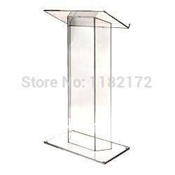 Escola de plástico transparente pódio igreja/modelo podium/púlpito de acrílico pódio púlpito