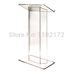 School Clear Plastic Church Podium/ Model Podium/ Acrylic Podium Pulpit Lectern
