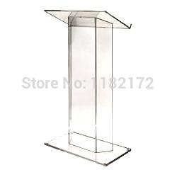 School clear plastic church podium/ model podium/ acrylic podium pulpit lectern
