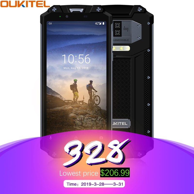 OUKITEL WP2 IP68 Wasserdicht NFC 4G LTE Smartphone 10000 mAh 4 GB RAM 64 GB ROM 6,0 inch 18:9 octa Core Fingerprint Handy