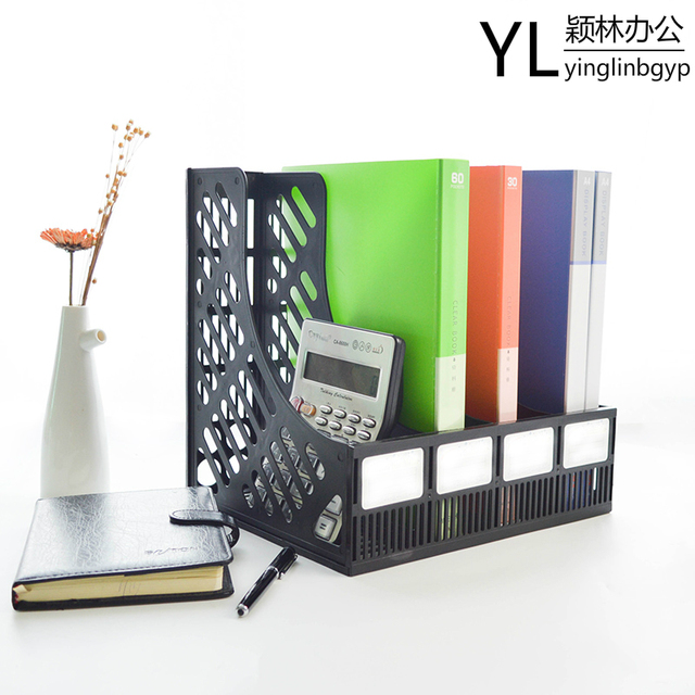 Office Shelf Four Material Shelves Desktop Data Compilation File Column Box Storage Rack 4 Products