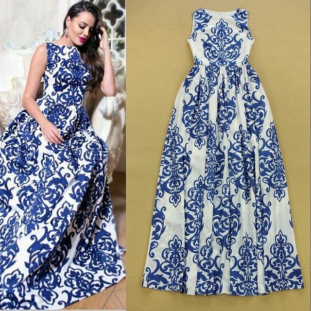 High Quality New 2015 Summer Maxi Dress Designer Women S