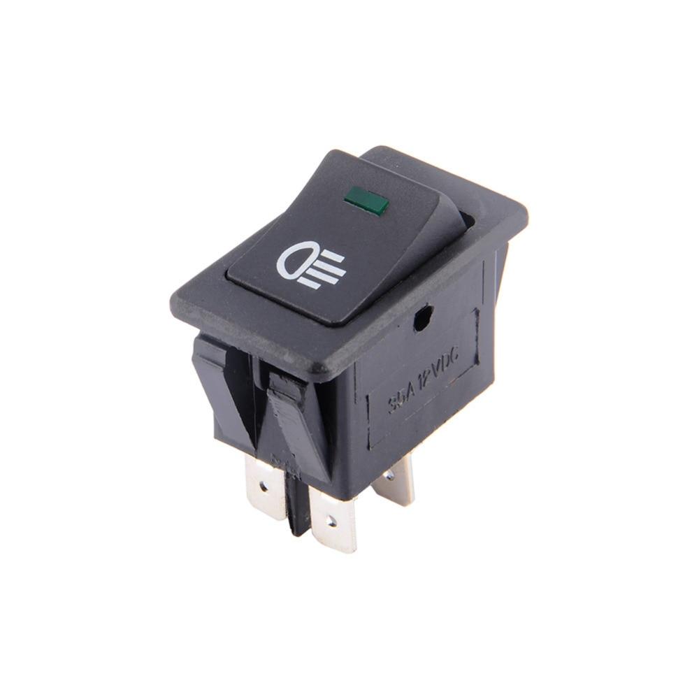 Universal Car Auto Fog Light Rocker Toggle Switch DC 12V 35A 4Pins LED Dashboard LED Color universal car auto fog light rocker toggle switch dc 12v 35a 4pins
