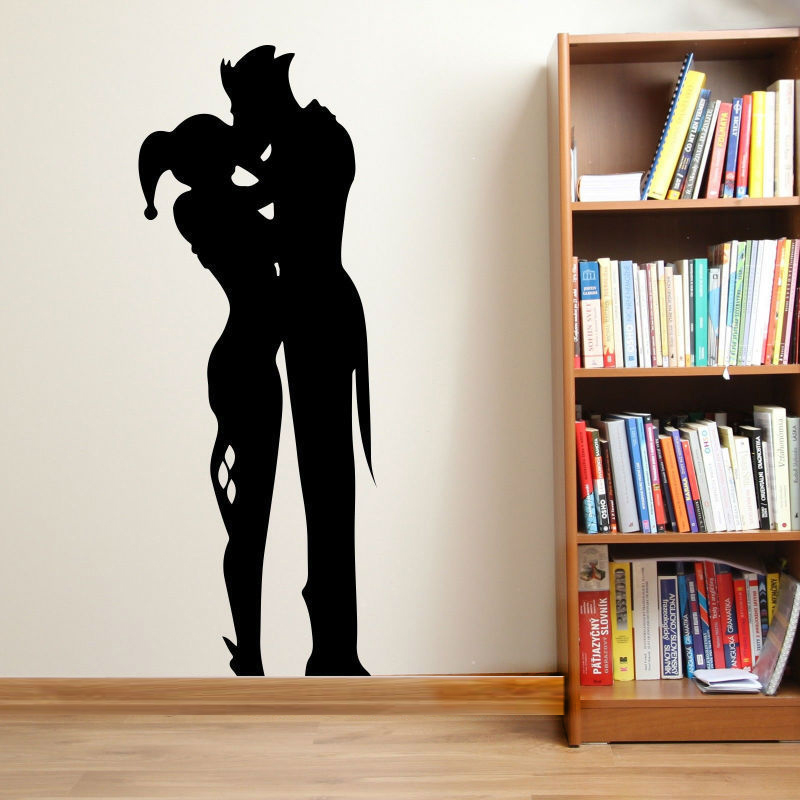 Aiwall Free Shipping Harley Quinn And The Joker WaLL Art Sticker Decal DIY  Home Decoration Wall