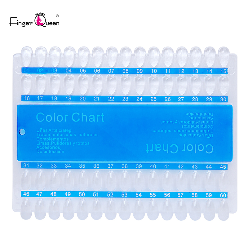FingerQueen 60/120 Nail Color Chart Stand Art Practice Display Board for Plastic Fake Nails with Designs for Nailpolish Display