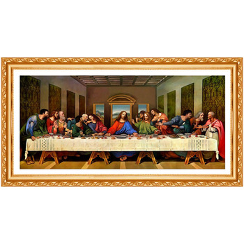 5D DIY spuare round Diamond Painting The Last Supper Crystal Diamond Painting Jesus Cross Stitch