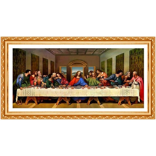 5D DIY spuare round Diamond Painting The Last Supper Crystal Diamond Painting Jesus Cross Stitch Needlework
