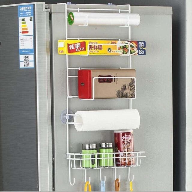 6 Tier Multi Purpose Metal Kitchen Cabinet Refrigerator Side Rack Door  Metal Storage Rack
