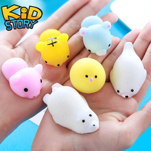 Mini Squishy Toy Cute Animal Antistress Ball Squeeze Mochi Rising Soft Sticky Funny Gift Decompression Squishi Stress Relief