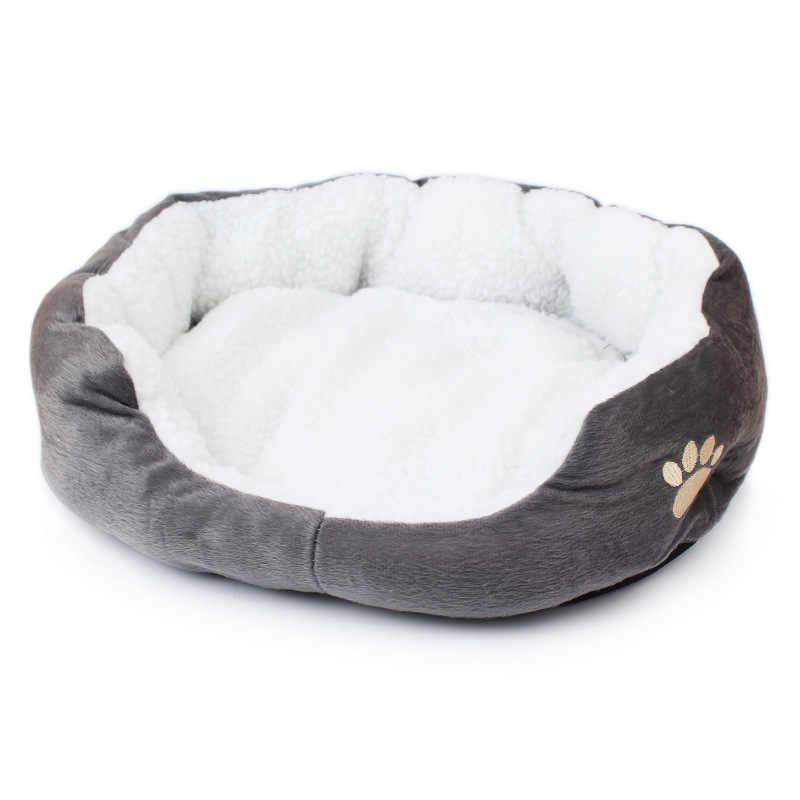 Kẹo Màu Mềm Cotton Giường Chó Mèo Mùa Đông Ấm Áp Con Mèo Nhồi Bông Mèo Nhà Kitten Mèo Sofa Giường Nhà Ở Vật Nuôi Mat cho con Chó nhỏ Trung Bình Mèo