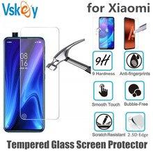 VSKEY Protector de pantalla de vidrio templado 2.5D para Xiaomi Mi 9T, Protector de pantalla antiarañazos para Xiaomi Redmi K20 Pro, 100 Uds.