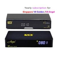 Yenilemek Yıllık v8 altın/v8 melek Blackbox C801 Artı Amiko mini İzle hd kanallar set üstü kutusu Singapur starhub Kablo TV siyah kutu