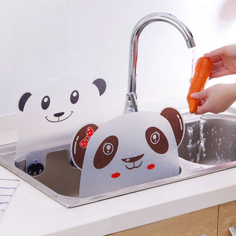 Panda Designed Water Sucker Sink Flap Kitchen Tool Accessiors Basin Pvc