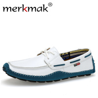 Merkmak Italian Genuine Leather Man Loafers Designer Slip On Driving Shoes Men High Quality Luxury Brand