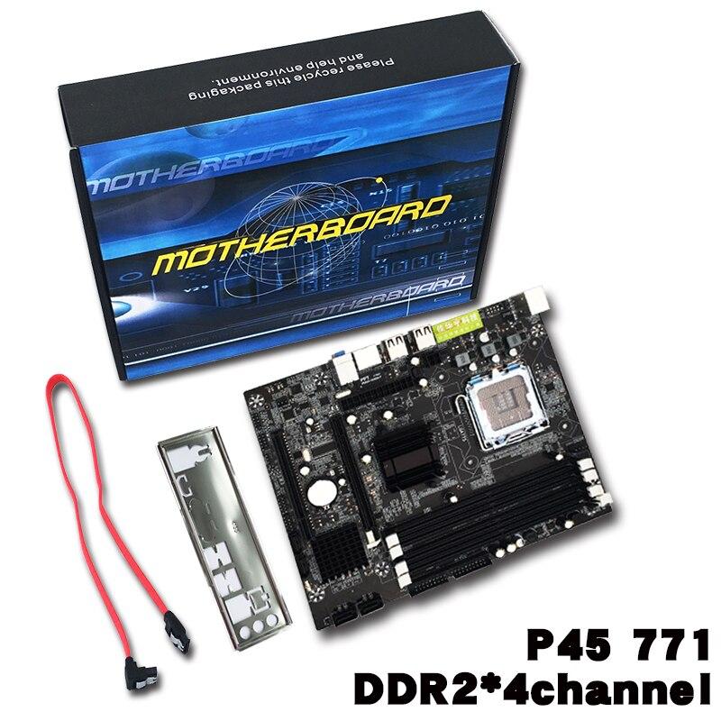 Разъем 771/775 Практичный Настольный компьютер материнская плата для intel p45 поддерживает 4 слота DDR2 800 двухканальный материнской платы