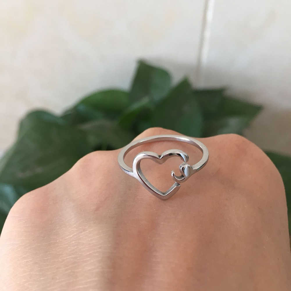 Anillo de semicolón para chica anillo ajustable Salud Mental anillo joyería inspiradora Acero inoxidable graduación estudiante