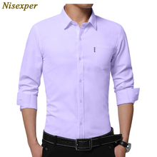 2018 New Brand Men Shirt Male Dress Shirts Men's Fashion Casual Long Sleeve Business Formal Shirt Plus Size 5XL